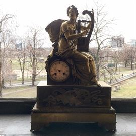 19th Century French Bronze Clock
