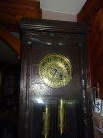Sensational Very Ornate Antique Grandfather Clock