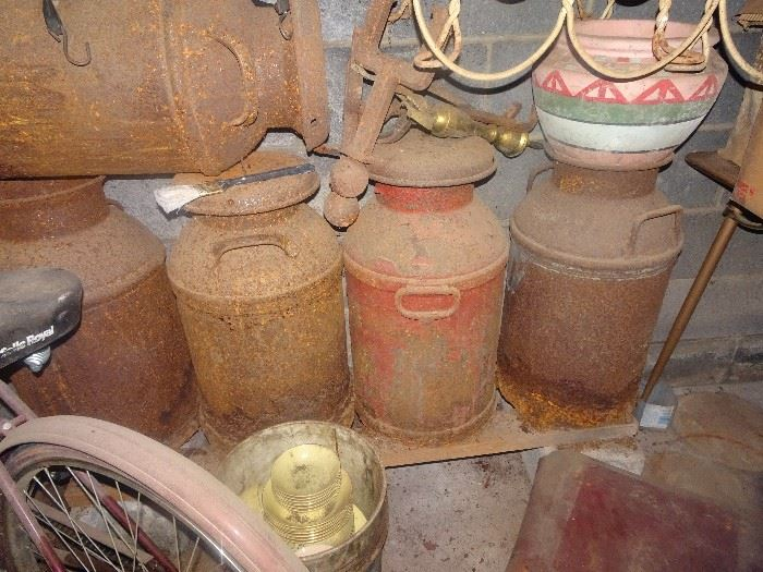 Old as Dirt Milk Cans