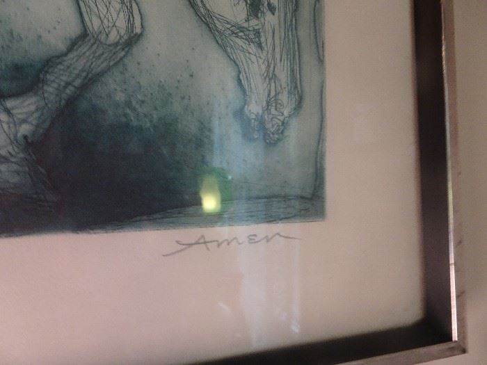 Don Quiote Artist Proof signed Irving Amen
