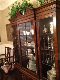 China cabinet loaded with lovely selections