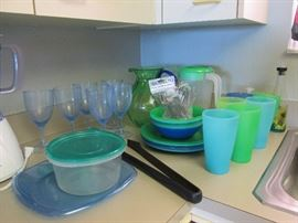 Mis plastic ware great for the pool area. all for $10.00