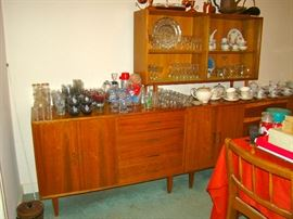 Modernaire Three Pieces ( Two Sideboards, China cabinet)