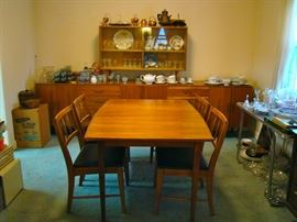MCM Walnut Dining Table w/ one leaf