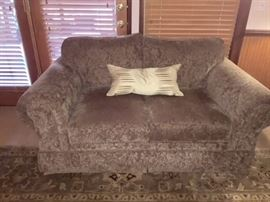 Norwalk love seat. Recently cleaned.