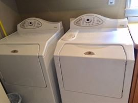Maytag Neptune front loader washer and dryer.