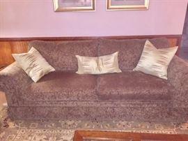 Norwalk sofa recently cleaned.