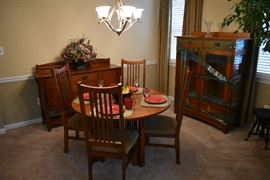 Mission Style dining suite in the Stickley motif
