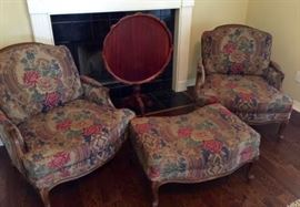 Tapestry Chairs, Tilt Top Table