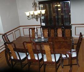 Oriental influence dining room set