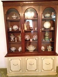 China cabinet filled with lovely selections