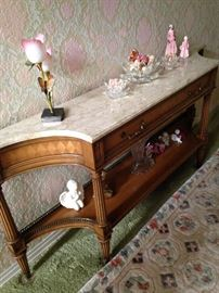 Two-tiered sofa table