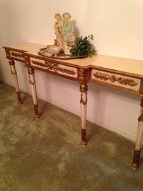 Extra long entry or sofa table