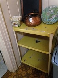 Vintage 3-tiered utility cart
