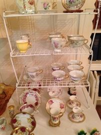 Variety of cups & saucers
