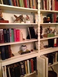 Books and knick knacks