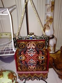 A stain glass purse