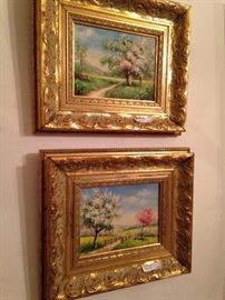 Small companion oil paintings