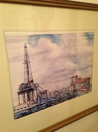 Off shore oil well art