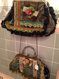 Frilly evening bags