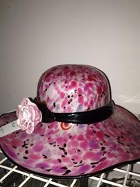 Pink hat decor