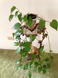 Antique plant stand
