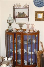 We started filling this curio with Fenton and ran out of room! More Fenton throughout the house...