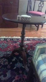 Henkel Harris Chair side pedestal table (2)