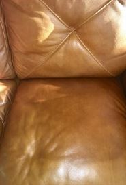 Detail of leather sofa
