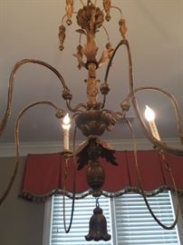 detail of chandelier