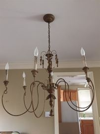 French chandelier--6 lights
