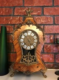 Burl wood clock