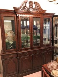 Gorgeous Hooker brand china cabinet
