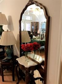 Mirror back entryway table
