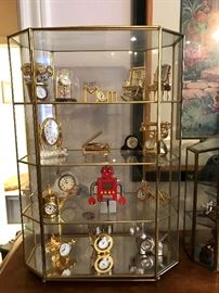 Brass miniature clocks