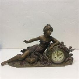 Francois Moreau Cast French Mantle Clock