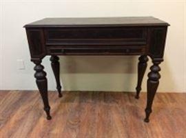 Vintage Spindle Leg Flip-Top Secretary Desk