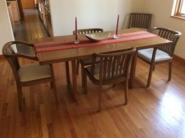 Danish Style Dining Room Set with 6 chairs