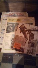 Numerous Newspapers and Memorabilia Media