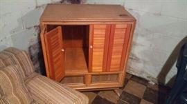 Modified TV/liquor cabinet