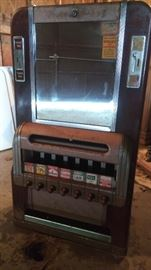 Vintage Cigarette Machine - base included but not shown.