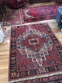 Wool, hand knotted rugs, made in Iran