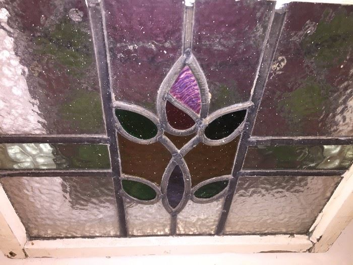 Small stain glass window