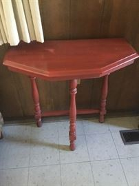 Rustic red wall table