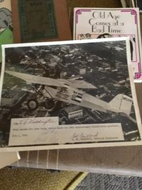 Signed Key brothers 8x10 photo of Ole Miss plane