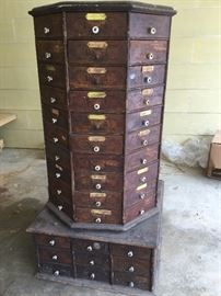 American Bolt Company 1903 octagon buggy parts cabinet