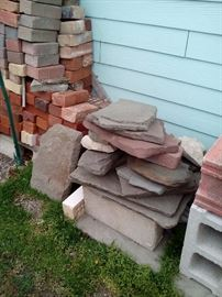 Reclaimed Brick,Slate Pieces,Decorative Land scape Bricks, Boulders small meduim and large