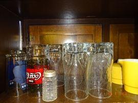 Various sizes of glassware