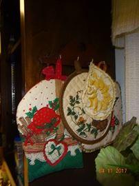 Vintage handmade pot holders