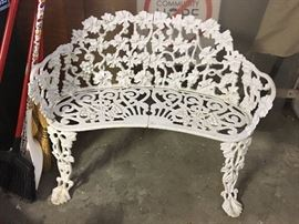 Cast iron white patio furniture
